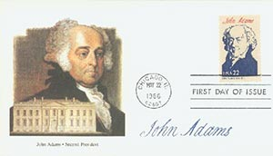 U.S. #2216b – 1986 Adams First Day Cover.