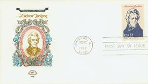 1986 22c Pres. Jackson,single