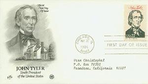1986 22c Pres. Tyler,single