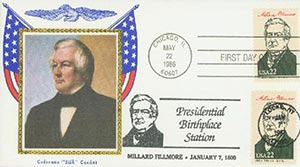 1986 22c Pres. Fillmore,single