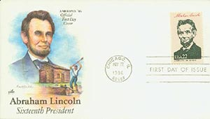 1986 22c Pres. Lincoln,single