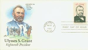 1986 22c Pres. Grant,single