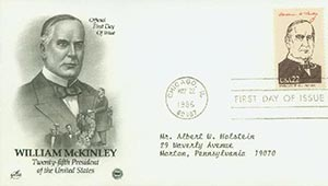 U.S. #2218f – 1986 McKinley First Day Cover.