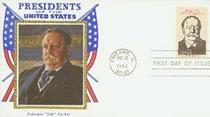 1986 22c Pres. Taft,single