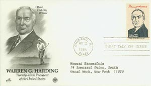 1986 22c Pres. Harding,single