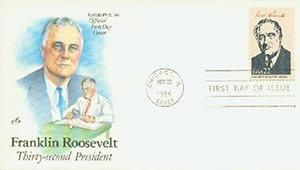 1986 22c Pres. F.D. Roosevelt,single