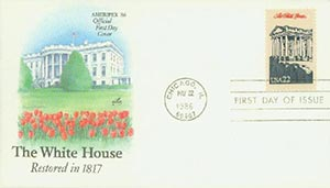 1986 22c The White House,single
