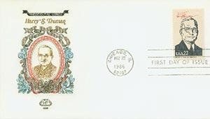 1986 22c Pres. Truman,single