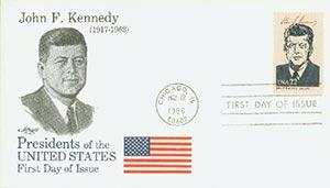 1986 22c Pres. Kennedy,single