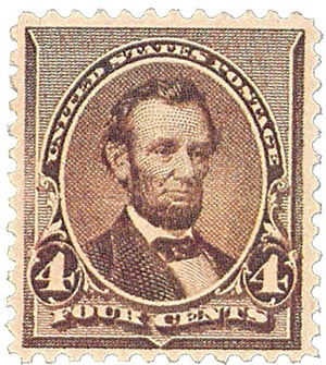1890 4c Lincoln, dark brown