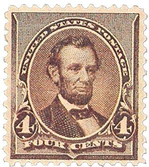 1890 4c Lincoln, dark brown