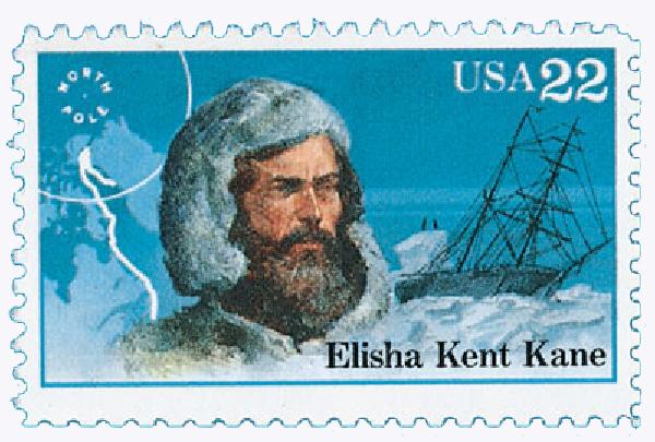 1986 22c Arctic Explorers: Elisha Kent Kane