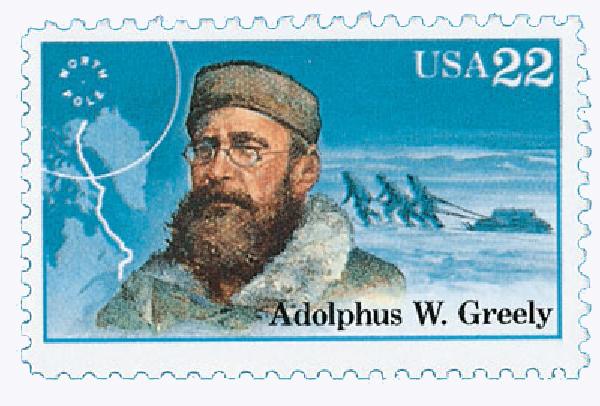 1986 22c Arctic Explorers: Aldolphus W. Greely