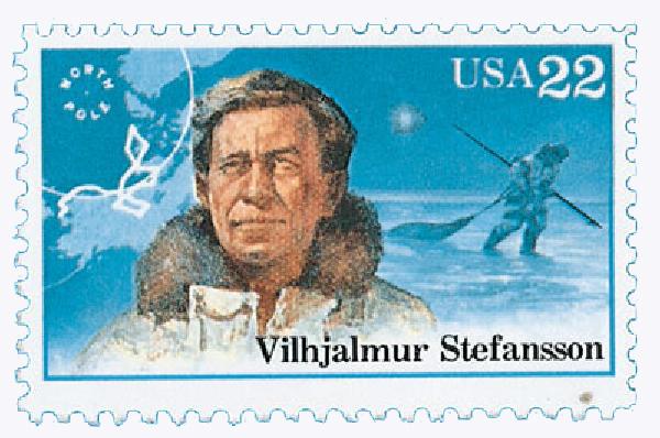 1986 22c Arctic Explorers: Vilhjalmur Stefansson