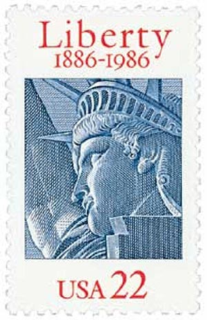 1986 22c Statue of Liberty