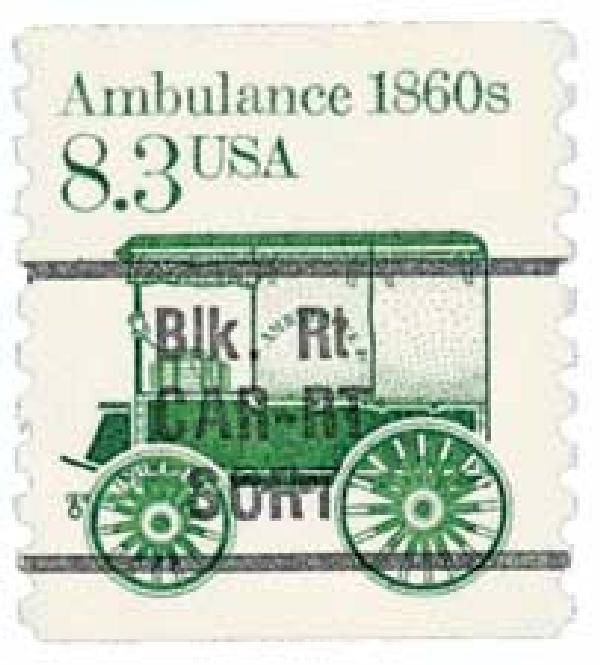 1986 8.3c 1860s Ambulance, precancel