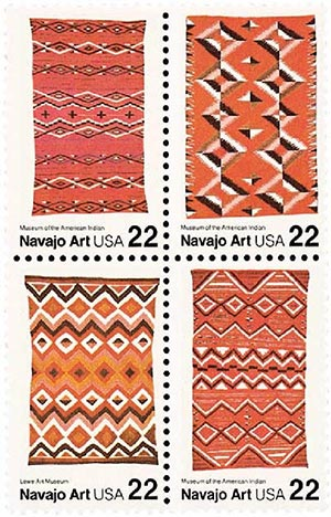 1986 22c Navajo Blankets