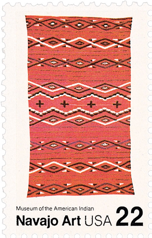 1986 22c Navajo Blankets: Multicolored a