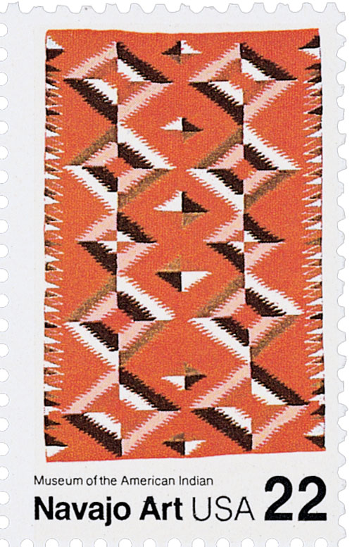 1986 22c Navajo Blankets: Multicolored b