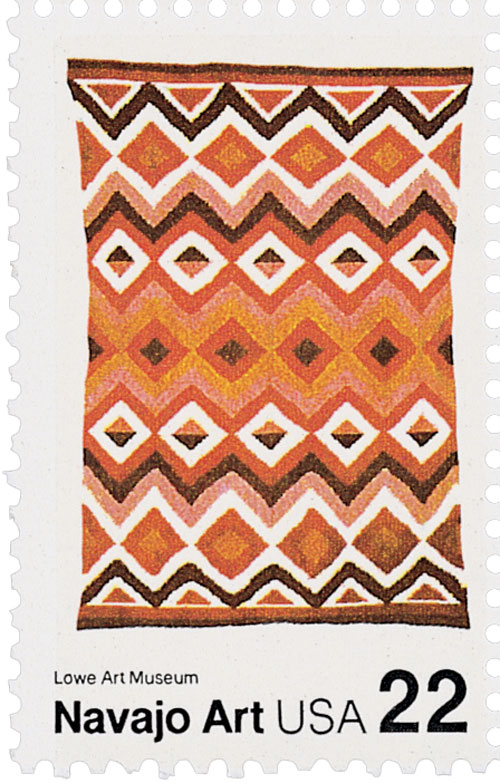 1986 22c Navajo Blankets: Multicolored c