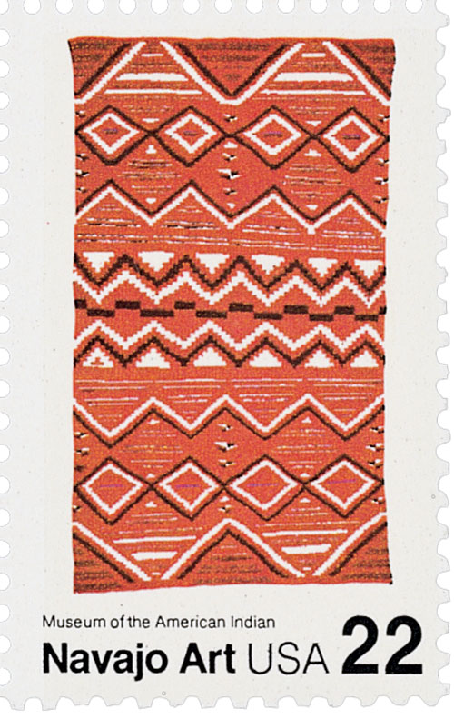 1986 22c Navajo Blankets: Multicolored d