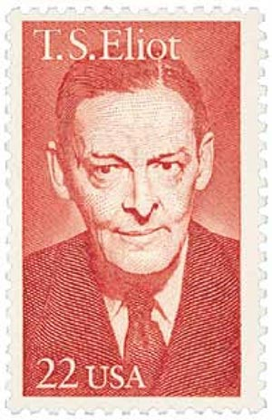 1986 22c Literary Arts: T. S. Eliot
