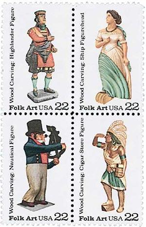 1986 22c Woodcarved Figurines