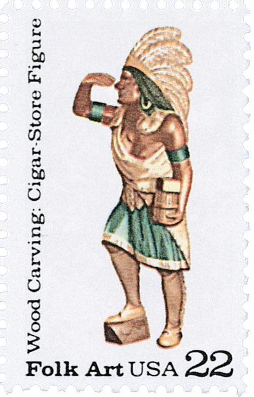 1986 22c Cigar Store figure