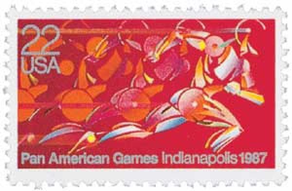 1987 22c Pan American Games