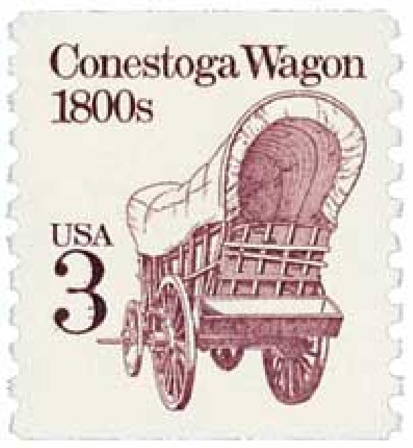 1988 3c Transportation Series: Conestoga Wagon, 1800s