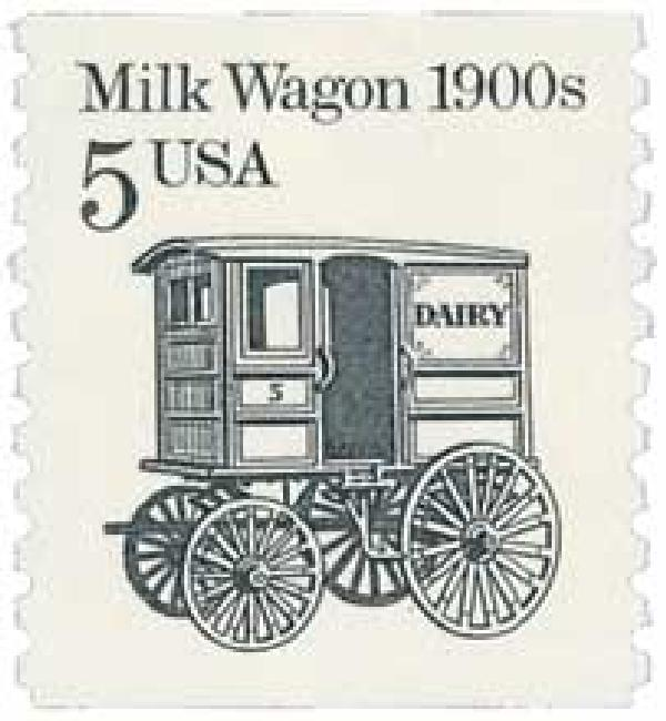 1988 5c Transportation Series: Milk Wagon, 1900s