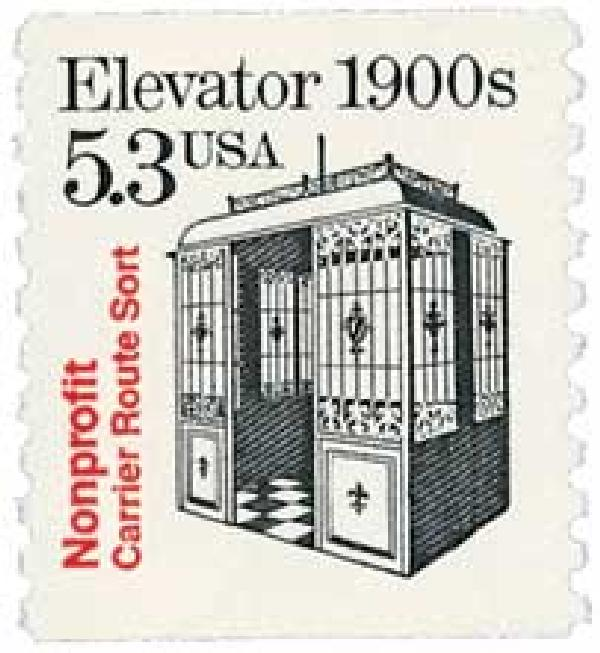 1988 5.3c Transportation Series: Elevator, 1900s