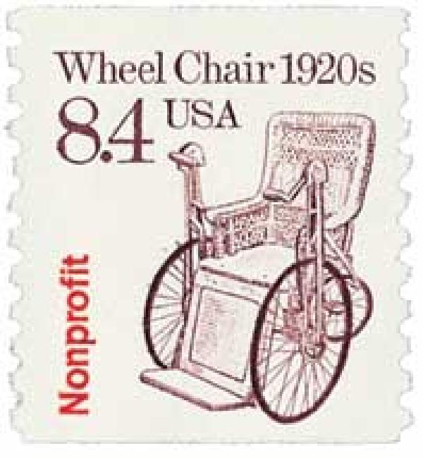 1988 8.4c Transportation Series: Wheel Chair, 1920s
