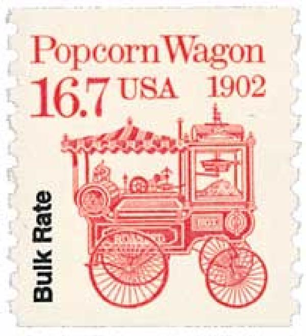 1988 16.7c Transportation Series: Popcorn Wagon, 1902