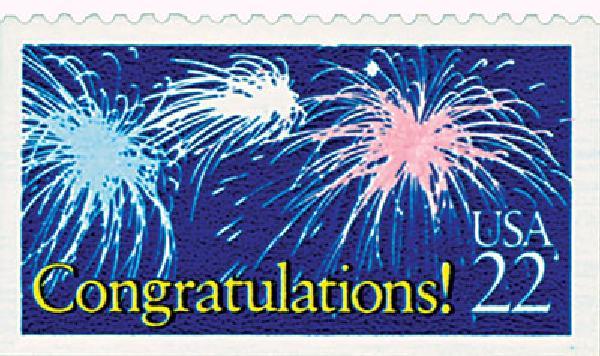1987 22c Special Occasions: Congratulations!
