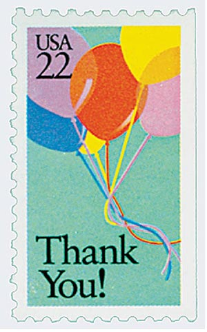 1987 22c Special Occasions: Thank You!