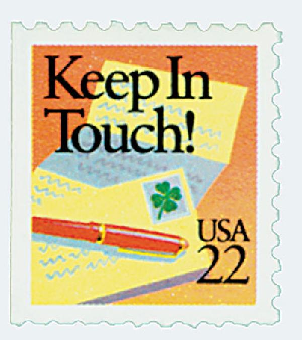 1987 22c Special Occasions: Keep in Touch!