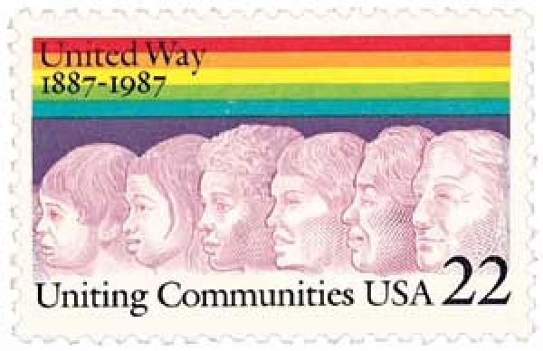 1987 22c United Way