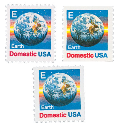 1988 E-Rate Change, set of 3 stamps