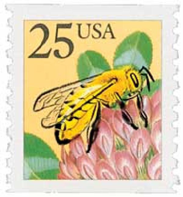 1988 25c Honeybee, coil