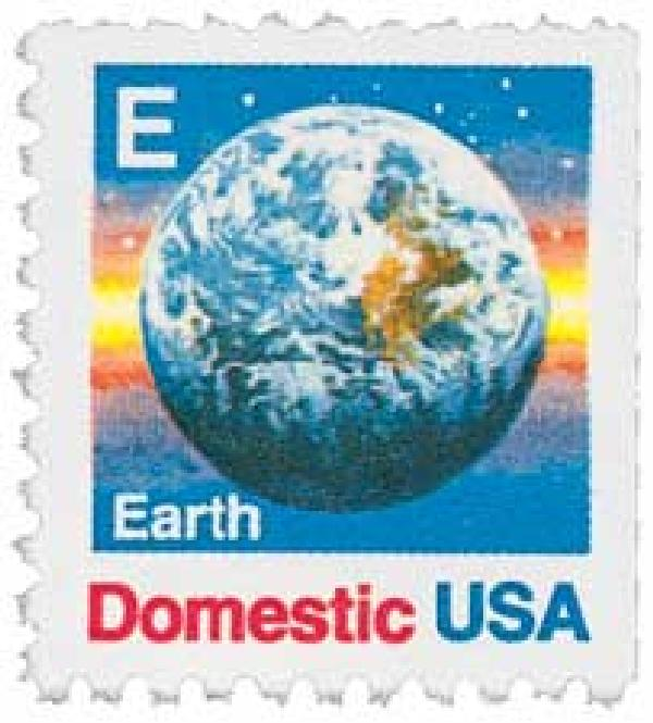 1988 25c E-rate Earth, booklet single