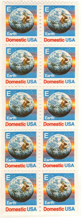"1987-88 25c ""E"" Stamp,bklt pane of 10"