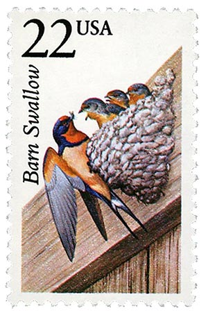 1987 22c North American Wildlife: Barn Swallow