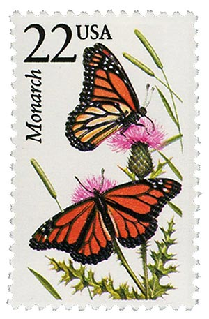 1987 22c North American Wildlife: Monarch Butterfly