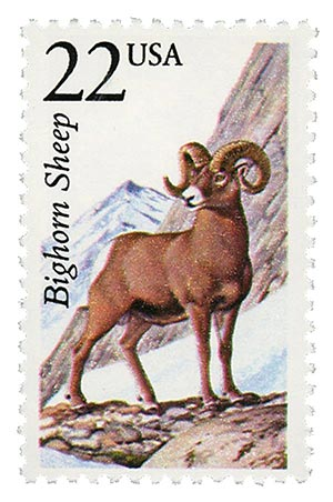 1987 22c North American Wildlife: Bighorn Sheep