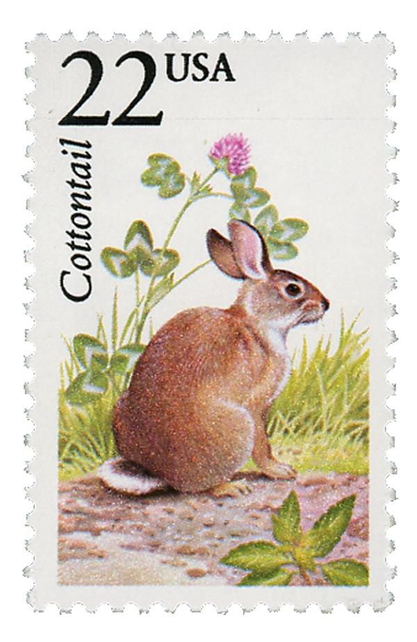 1987 22c North American Wildlife: Cottontail