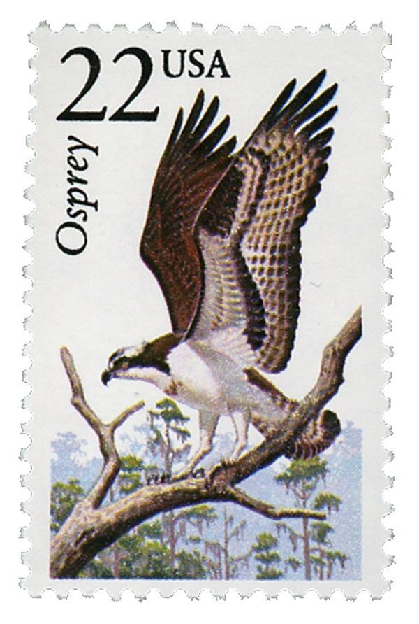 1987 22c North American Wildlife: Osprey