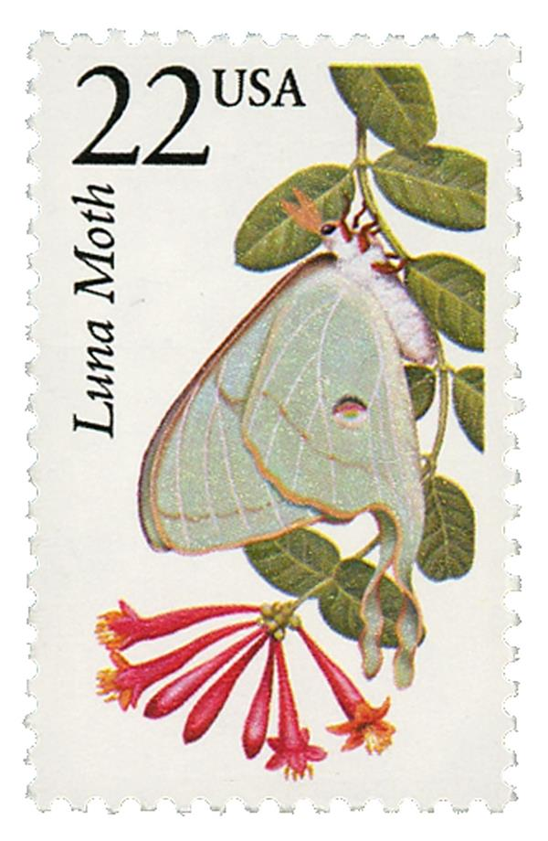 1987 22c North American Wildlife: Luna Moth