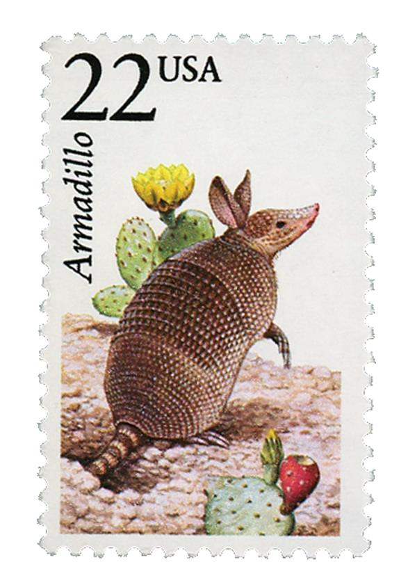 1987 22c North American Wildlife: Armadillo