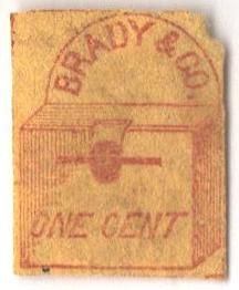 1857 1c red, yellow